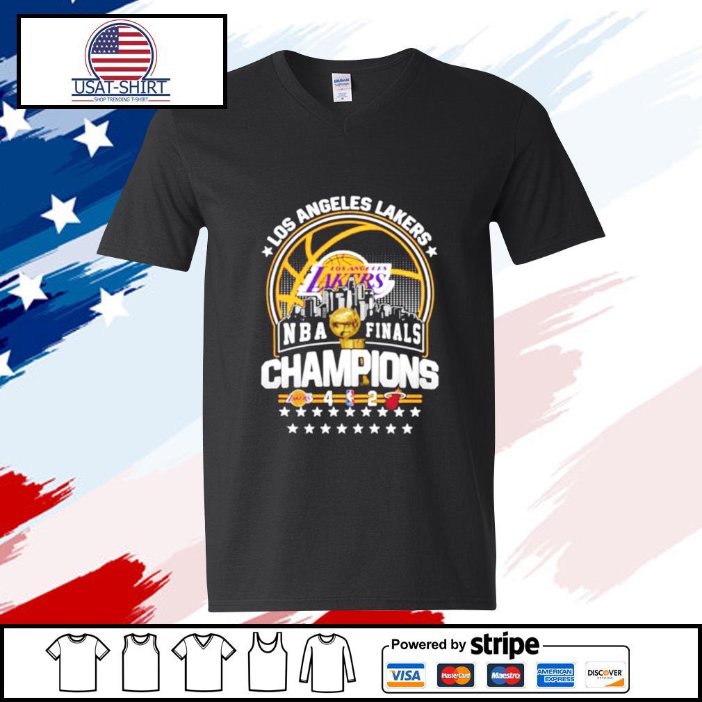Los Angeles Lakers Los NBA Finals Champions 2020 s v-neck-t-shirt