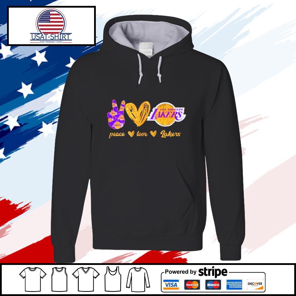 Peace Love Los Angeles Lakers s hoodie