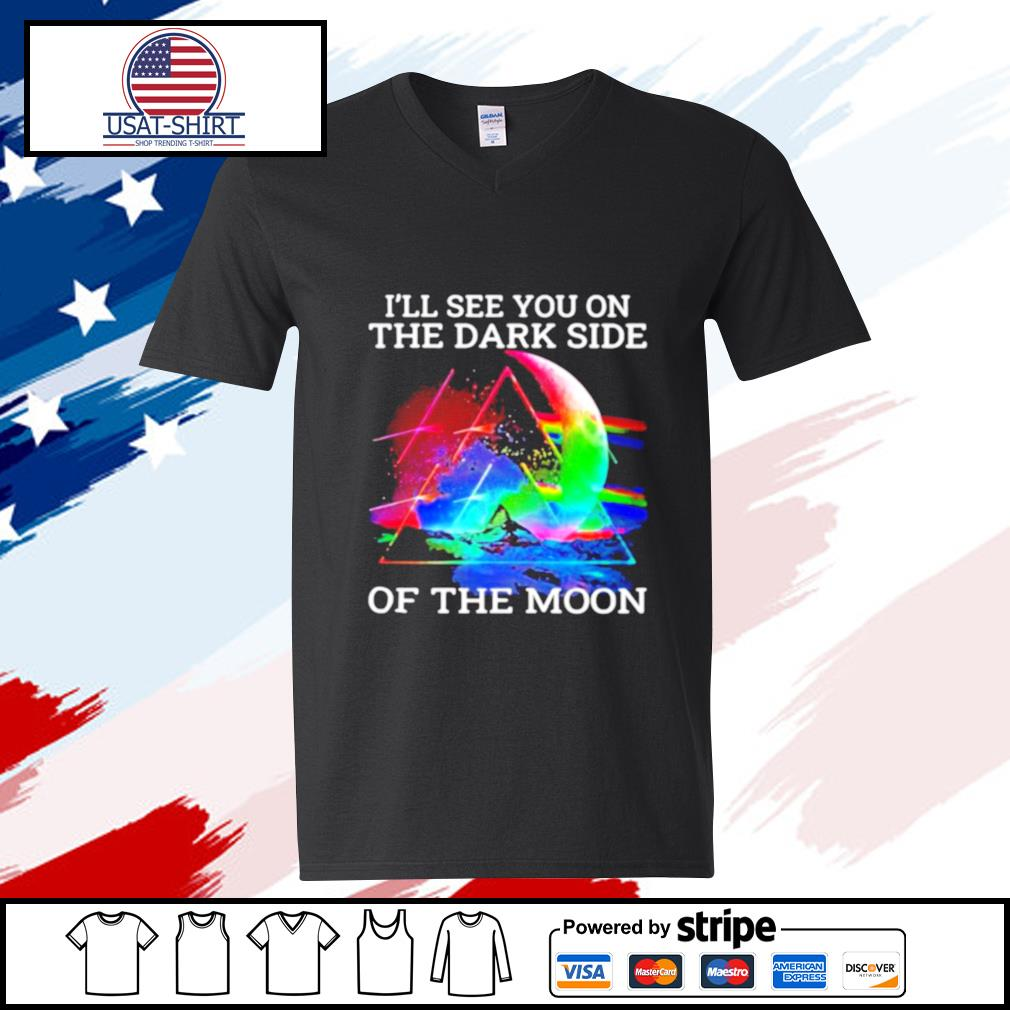 Pink floyd band i'll see you on the dark side of the moon s v-neck-t-shirt