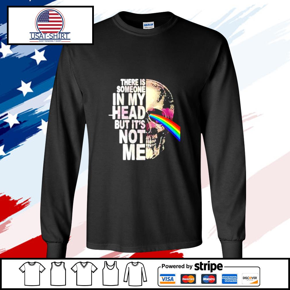 Pink floyd band skull there is someone in my head but it's not me s longsleeve-tee