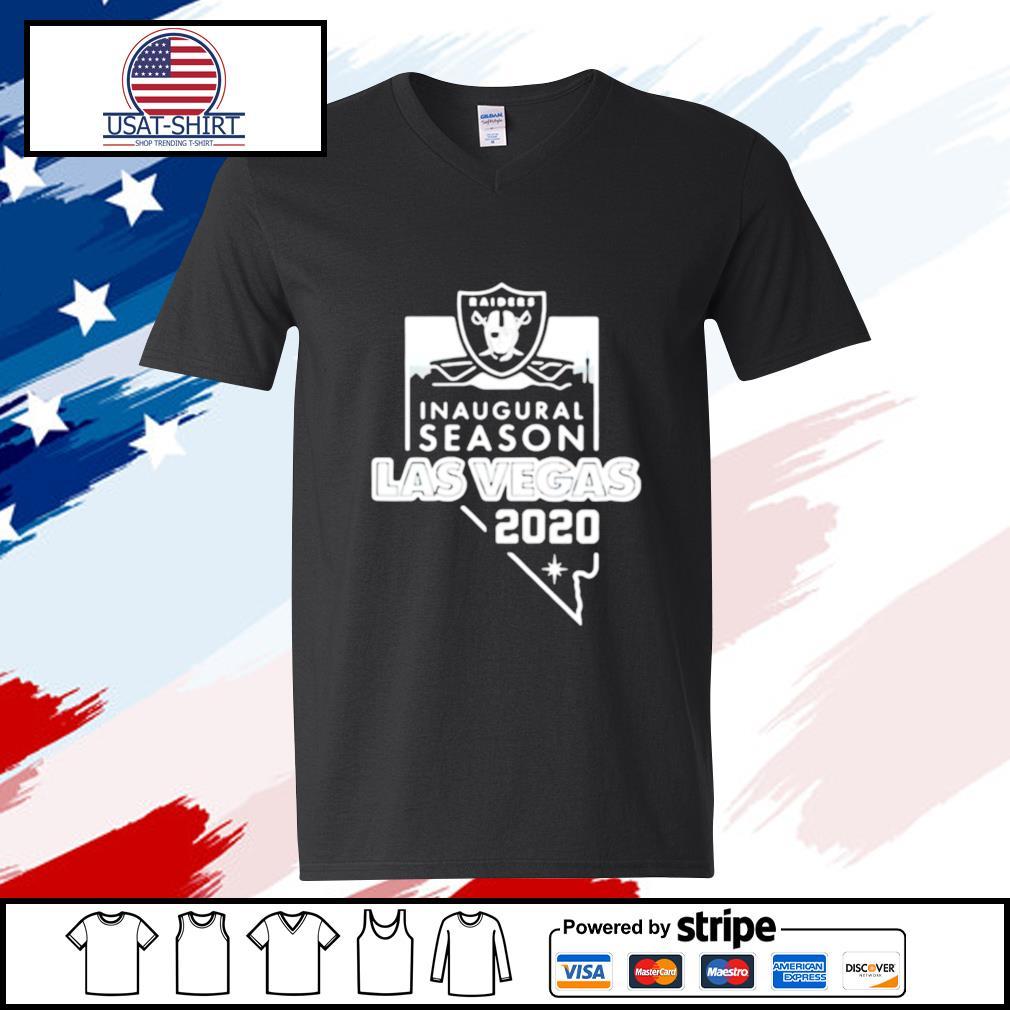 Raiders inaugural season las vegas 2020 s v-neck-t-shirt