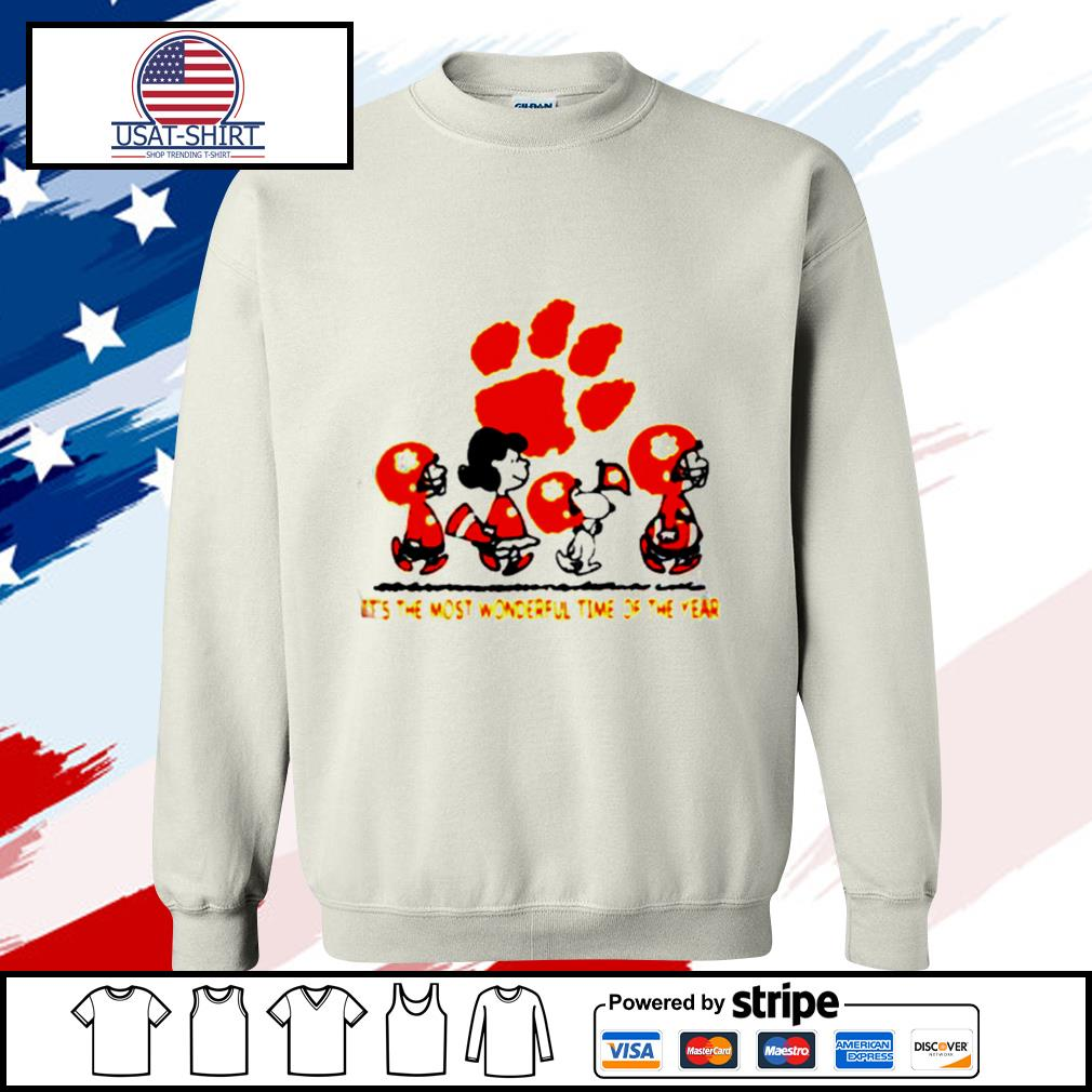 Snoopy and friends Clemson Tigers its the most wonderful time of the year s sweater