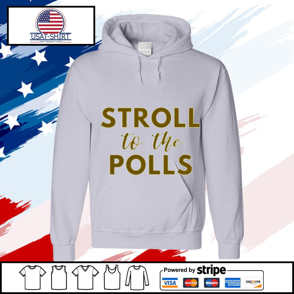 Stroll to the Poll Black sorority Zeta Sisters s hoodie