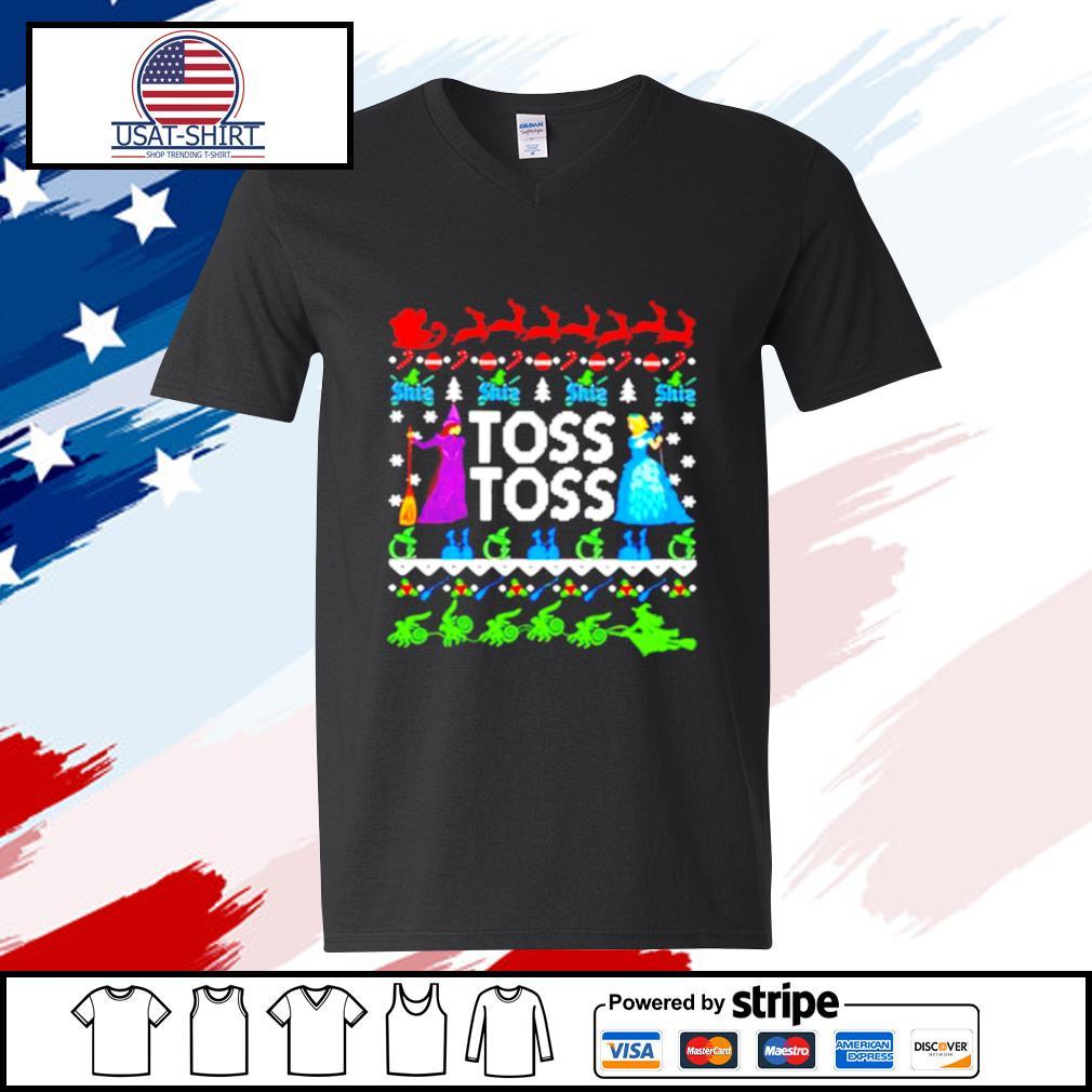 Toss toss Witch Merry Christmas s v-neck-t-shirt