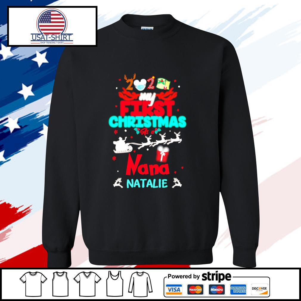 2020 my first christmas as a santa claus nana natalie s sweater