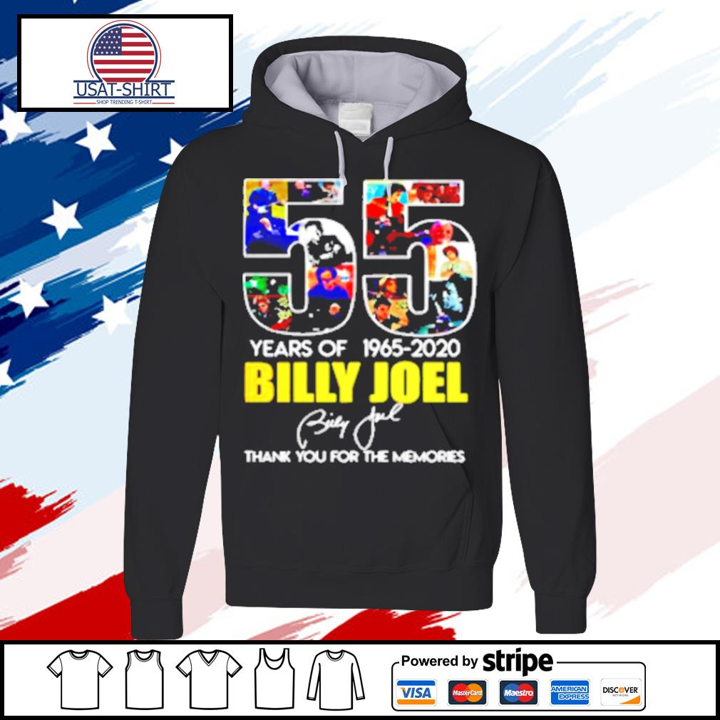 Billy Joel 55Th Years Of 1965 2020 Signature Thank You For Memories s hoodie