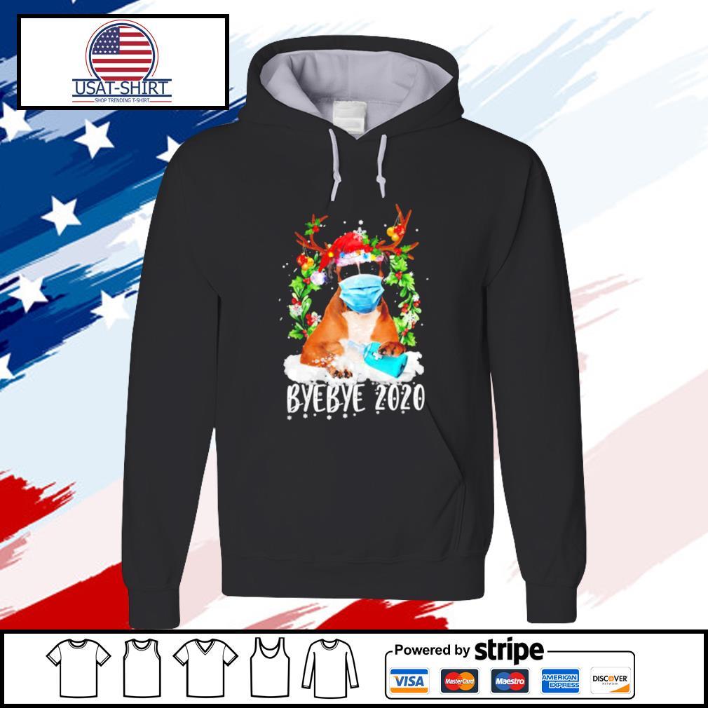 Boxer Christmas Face Mask Bye Bye 2020 Xmas Dog s hoodie