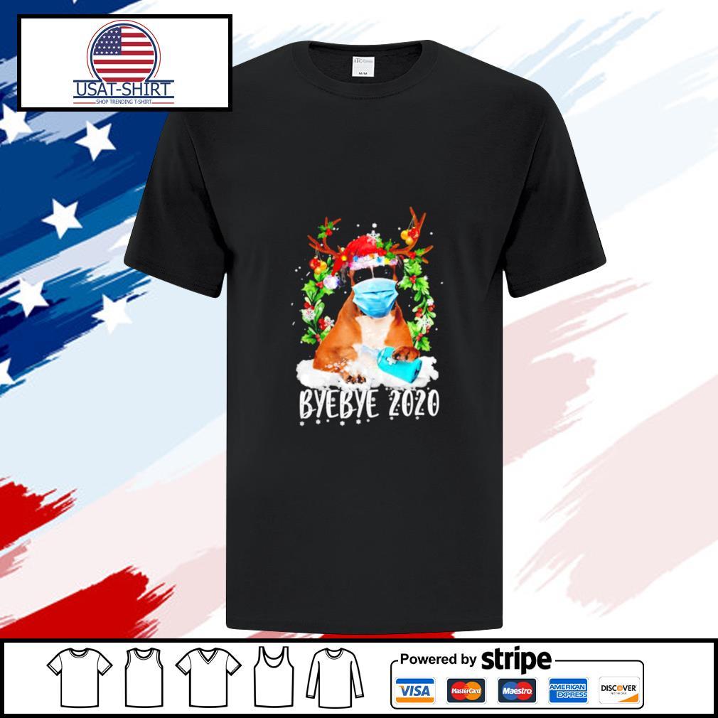 Boxer Christmas Face Mask Bye Bye 2020 Xmas Dog shirt