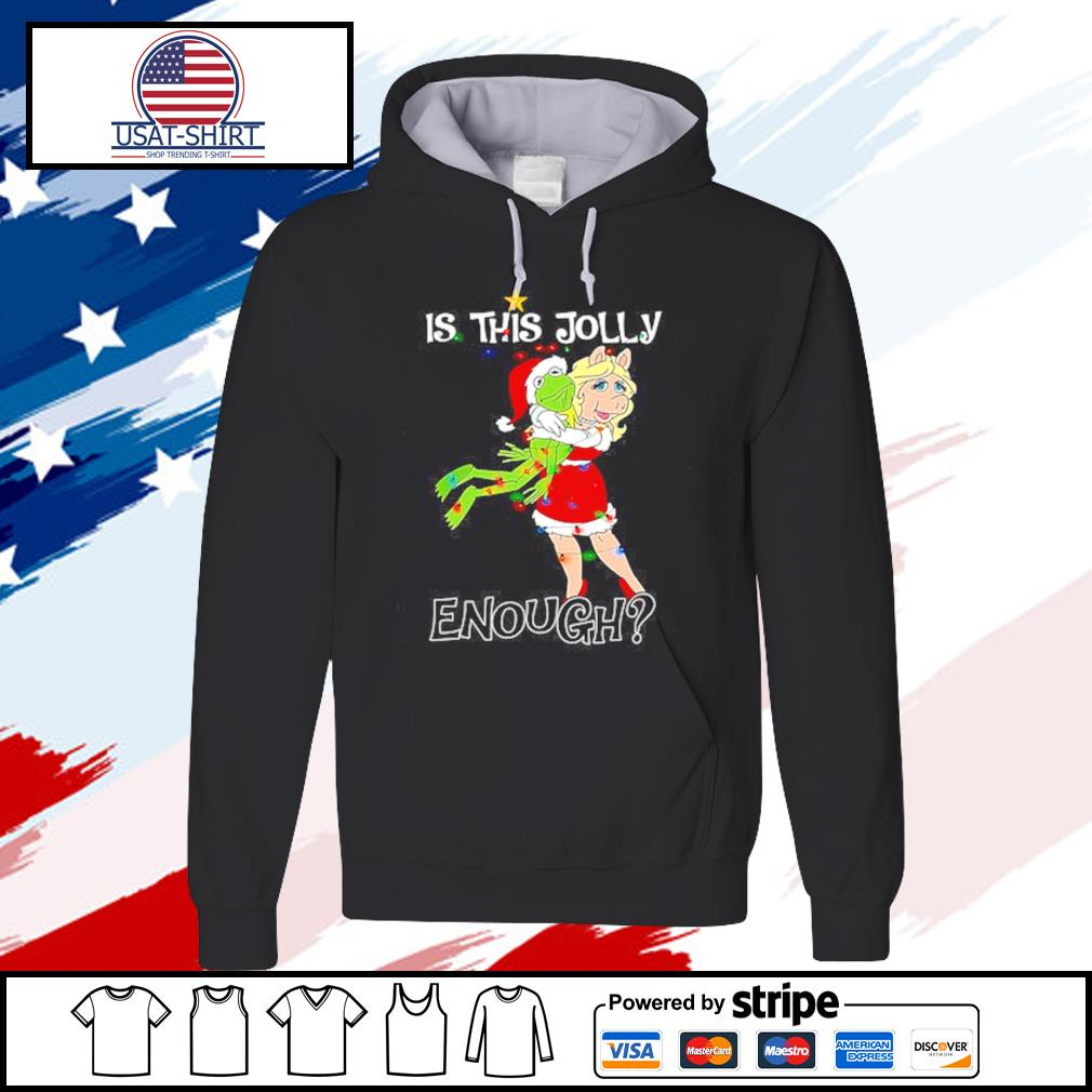 Christmas frog and pig is this jolly enough s hoodie