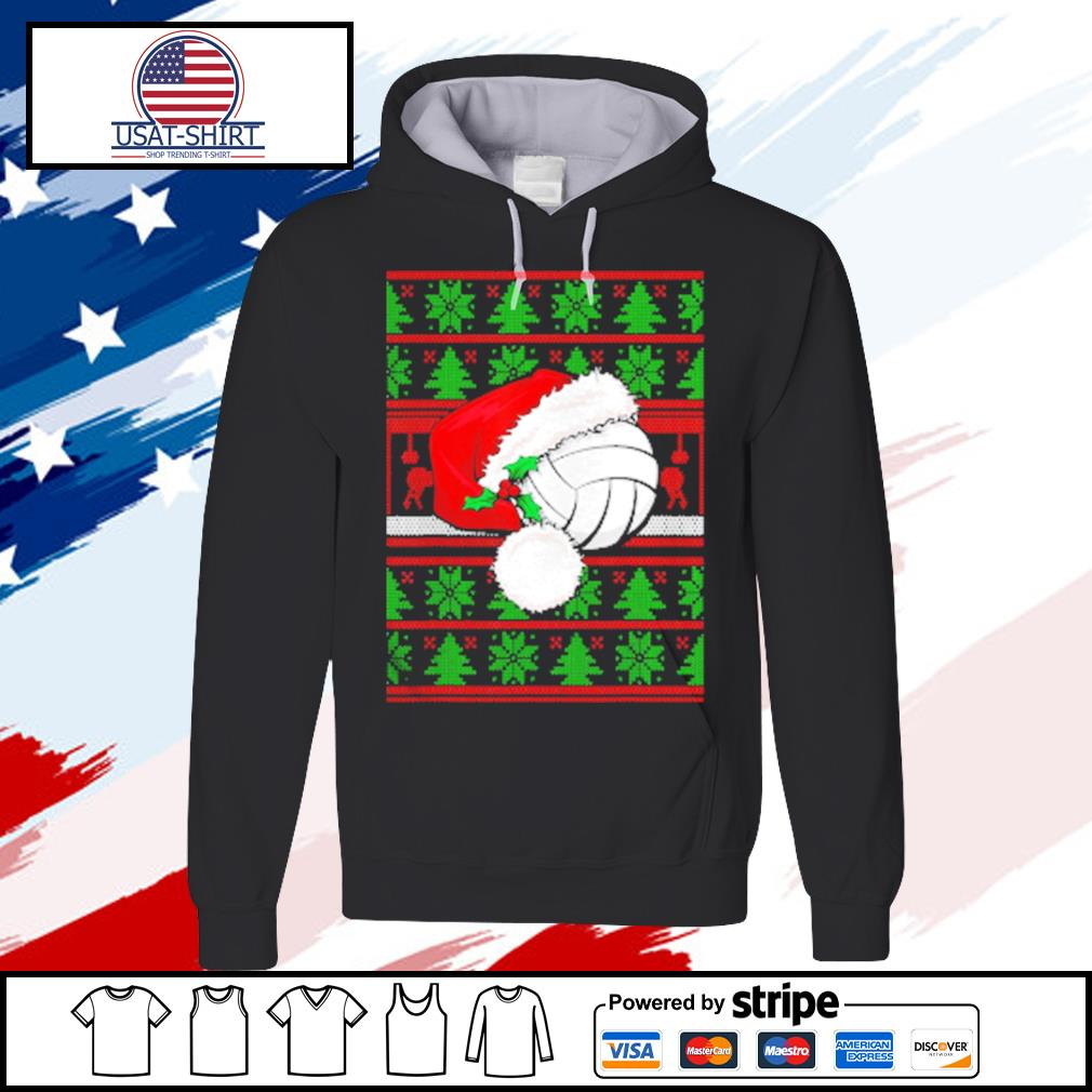 Claus Hat Volleyball Christmas Tee Gift s hoodie