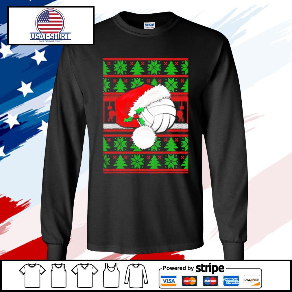 Claus Hat Volleyball Christmas Tee Gift s longsleeve-tee