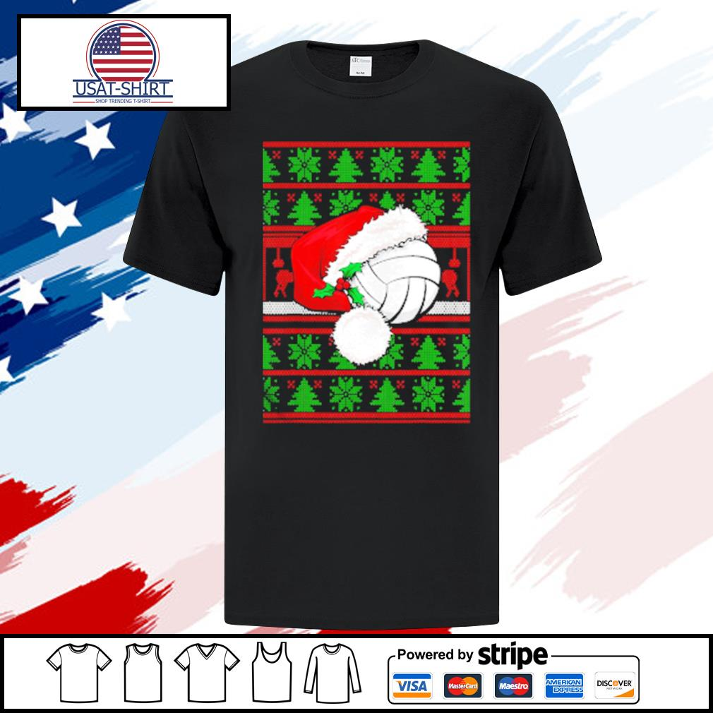 Claus Hat Volleyball Christmas Tee Gift shirt