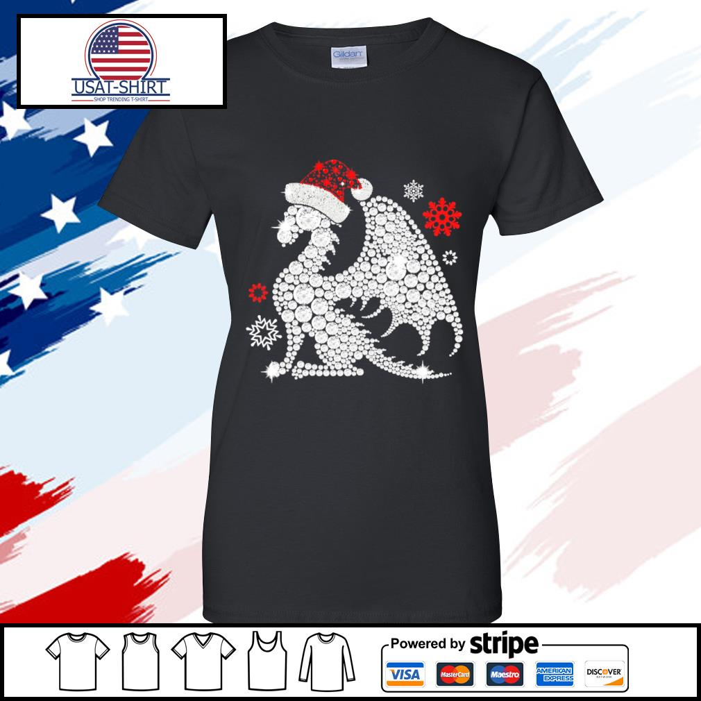 dragon christmas s ladies tee