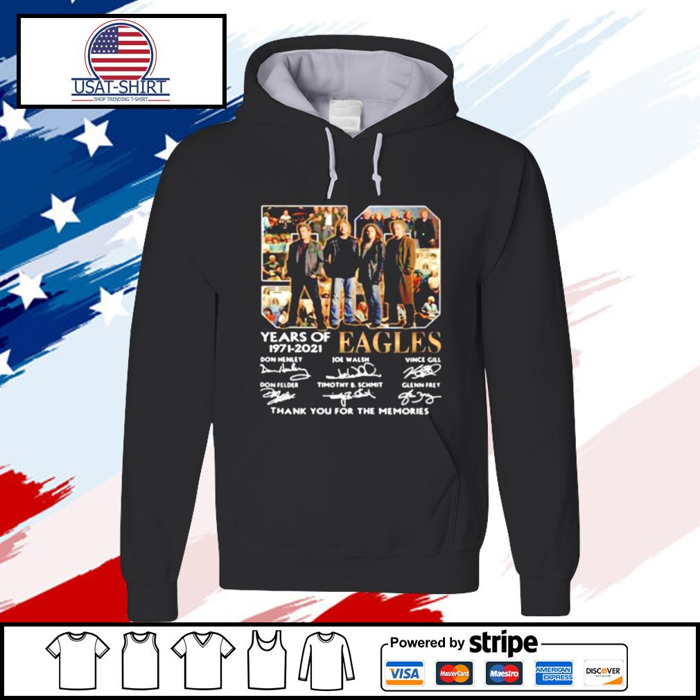 Eagles 59 Years Of 1971 2021 Thank You For The Memories Signature s hoodie