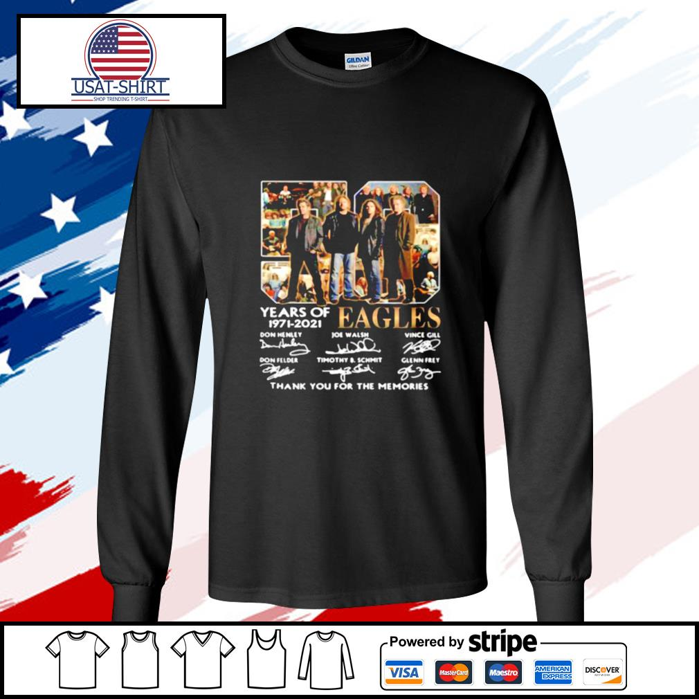 Eagles 59 Years Of 1971 2021 Thank You For The Memories Signature s longsleeve-tee