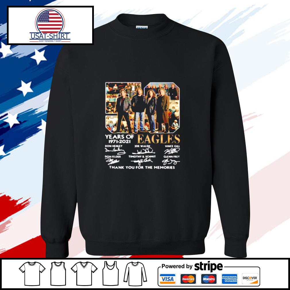 Eagles 59 Years Of 1971 2021 Thank You For The Memories Signature s sweater