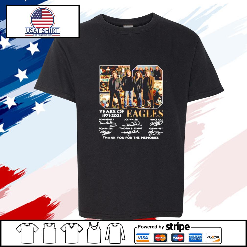 Eagles 59 Years Of 1971 2021 Thank You For The Memories Signature s youth-tee