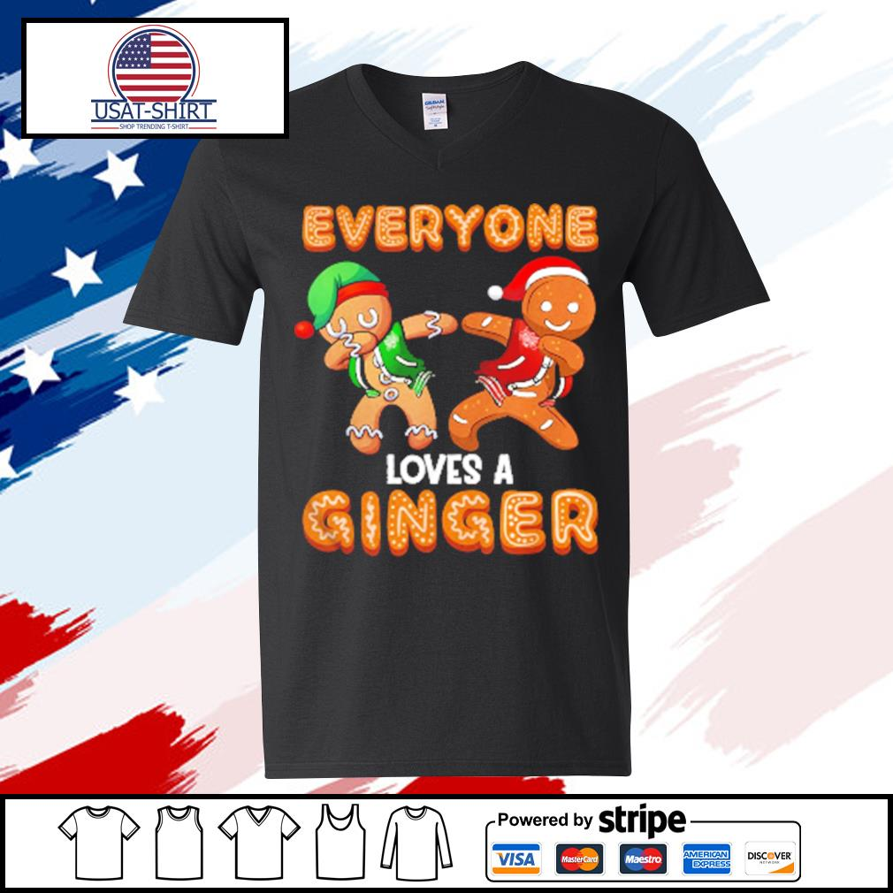 Everyone Loves A Ginger Gingerbread Christmas s v-neck t-shirt