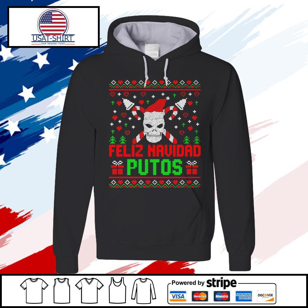 Feliz Navidad Putos Skull Ugly Christmas s hoodie