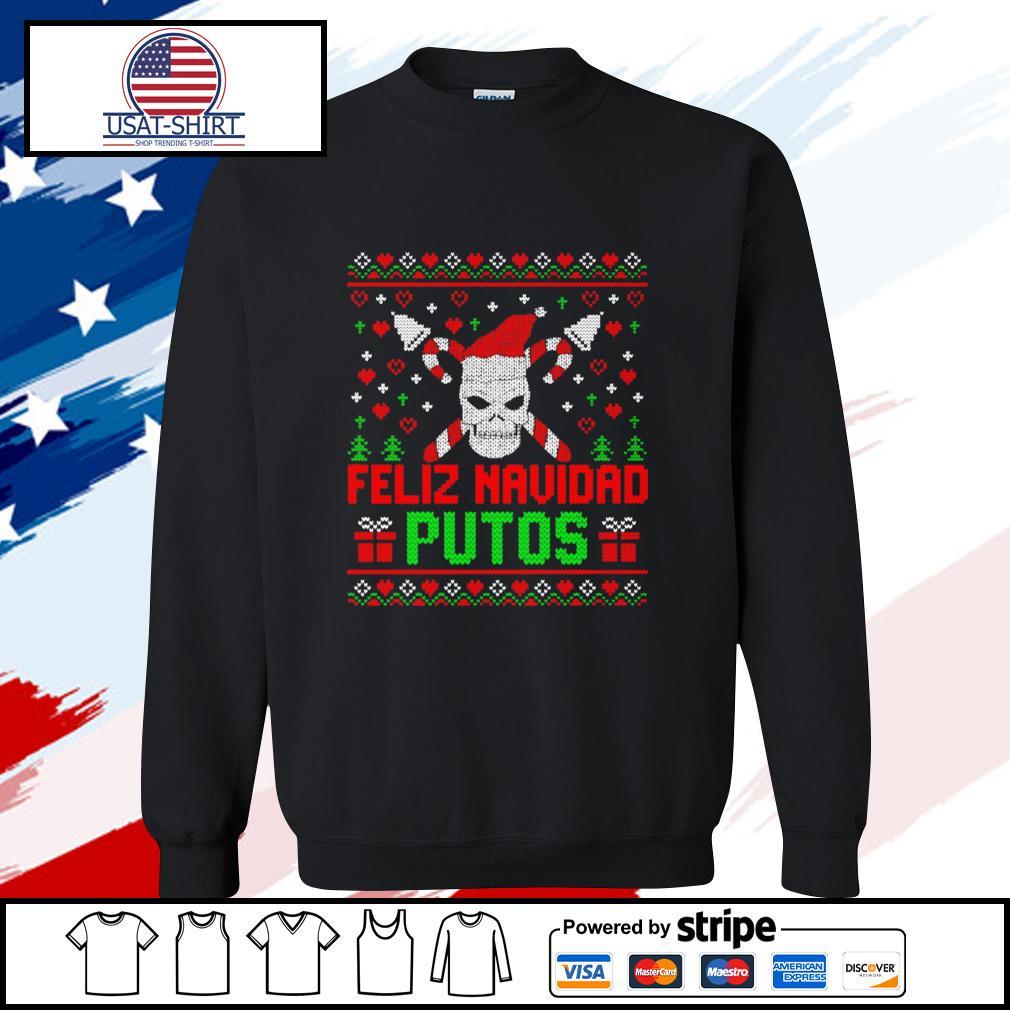 Feliz Navidad Putos Skull Ugly Christmas s sweater