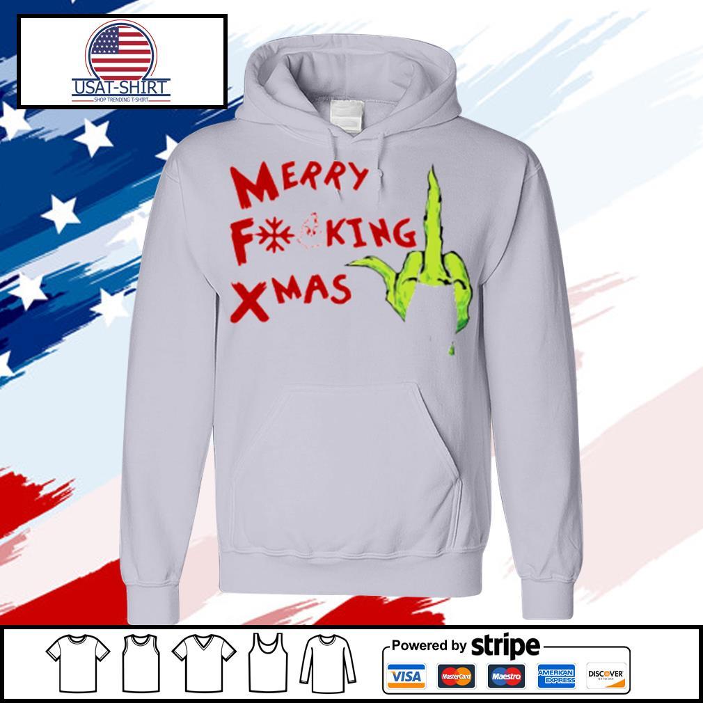 Grinch Hand Merry Fucking Xmas Christmas s hoodie