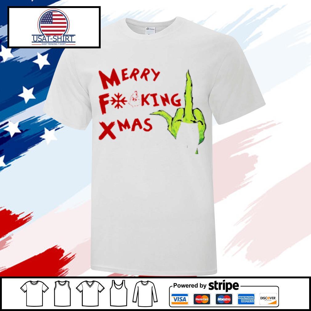 Grinch Hand Merry Fucking Xmas Christmas shirt