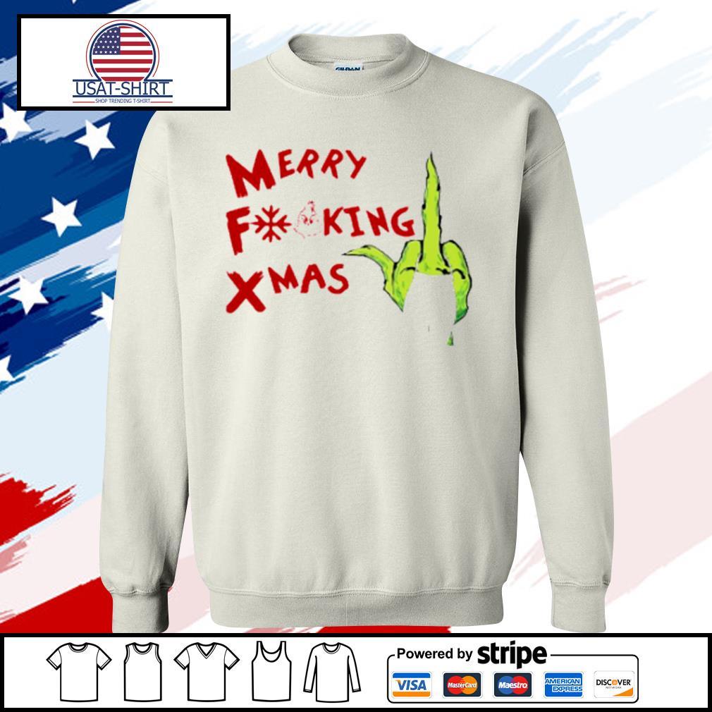 Grinch Hand Merry Fucking Xmas Christmas s sweater