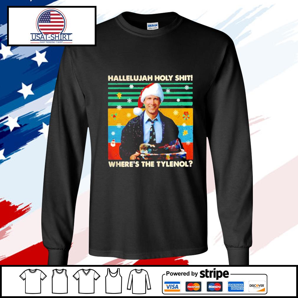 Griswold Hallelujah holy shit wheres the Tylenol vintage s longsleeve-tee