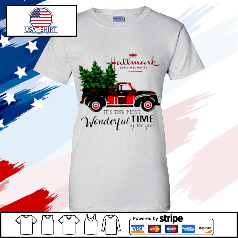 Hallmark Christmas Movies Its The Most Wonderful Time Of Year Christmas s ladies tee