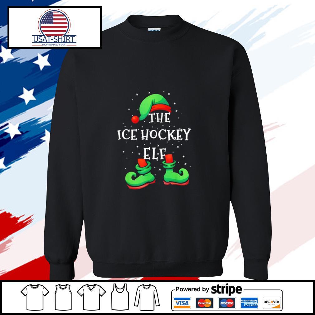Ice Hockey Elf Family Matching Christmas s sweater