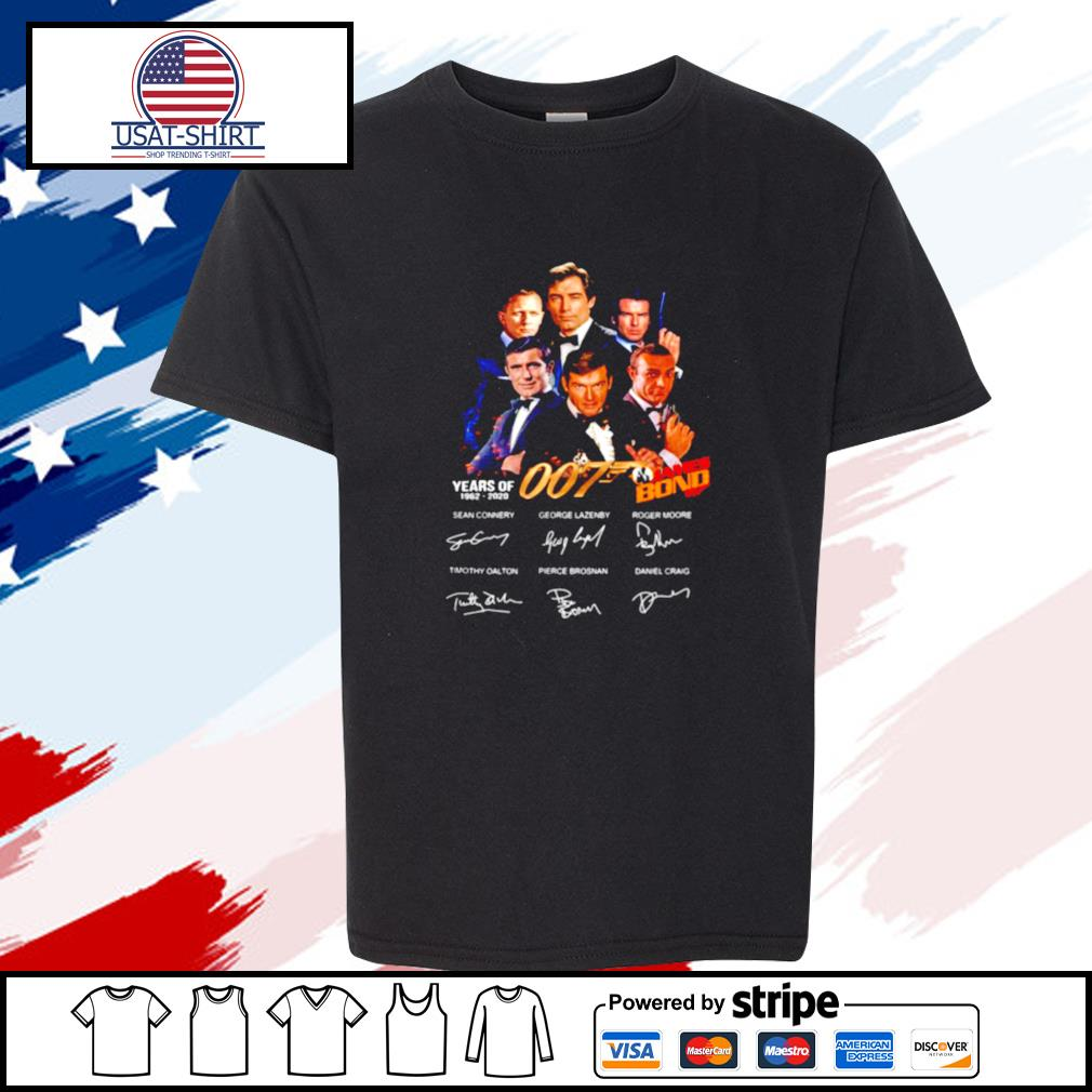 James Bond 50 Years Of 007 1962 2020 Signatures s youth-tee