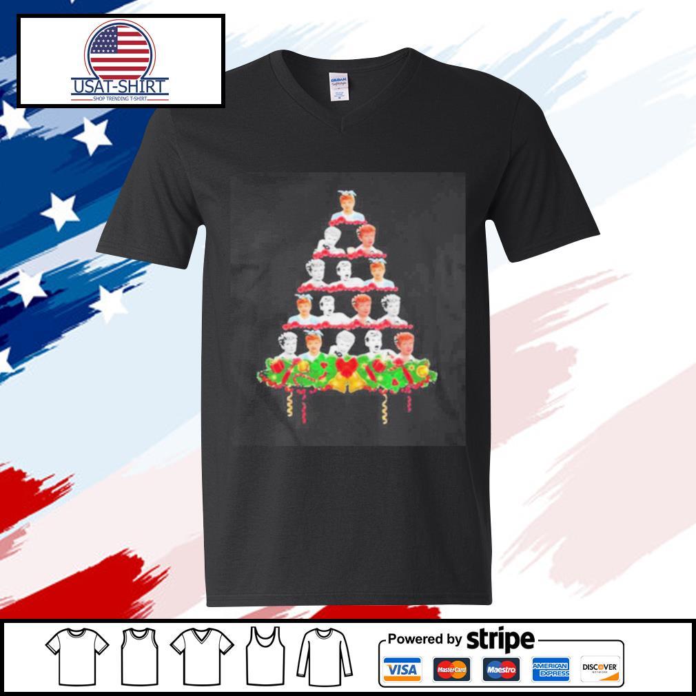 Lucille Ball Christmas Tree s v-neck-t-shirt