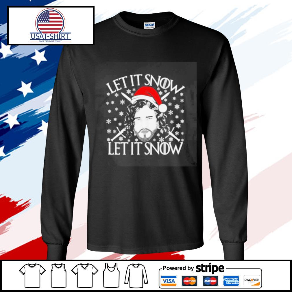 Merry Christmas Jon Let It Snow Let It Snow s longsleeve-tee