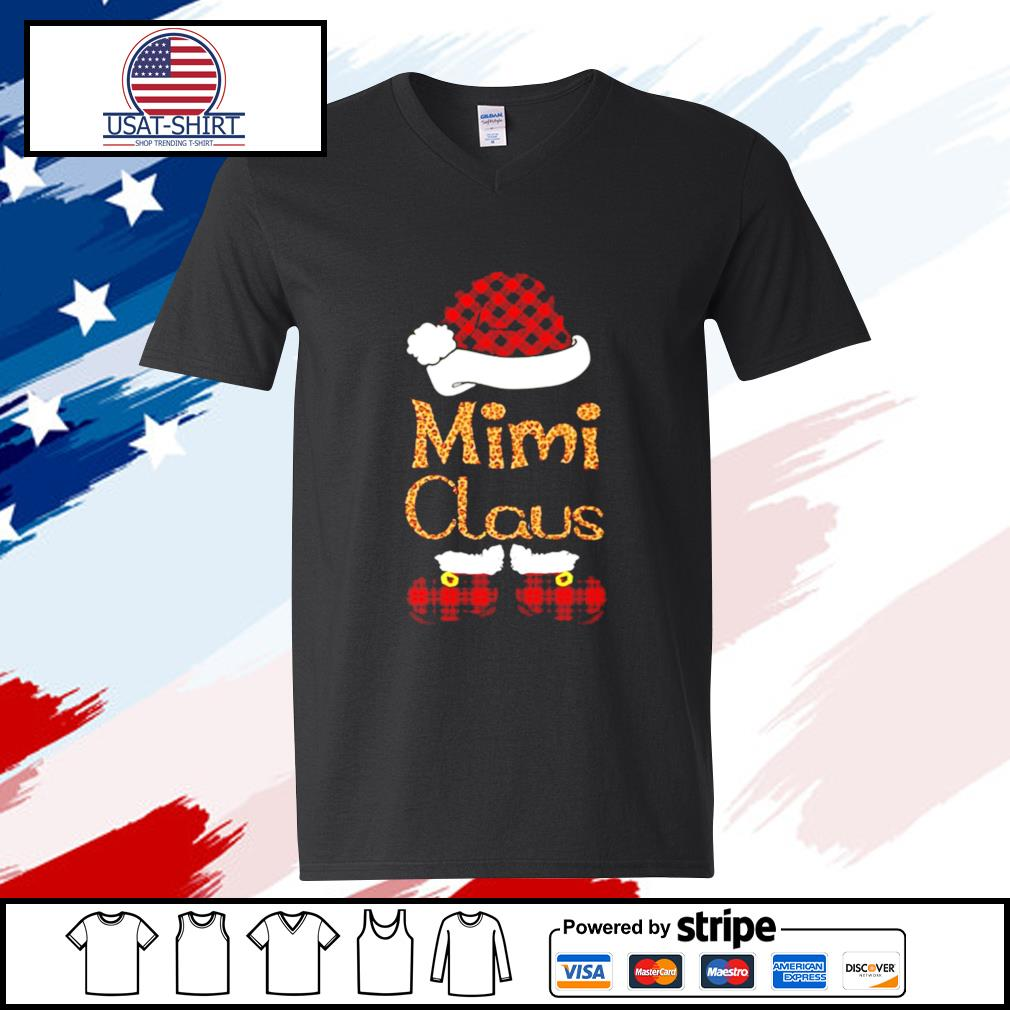 Mimi Claus Christmas s v-neck-t-shirt