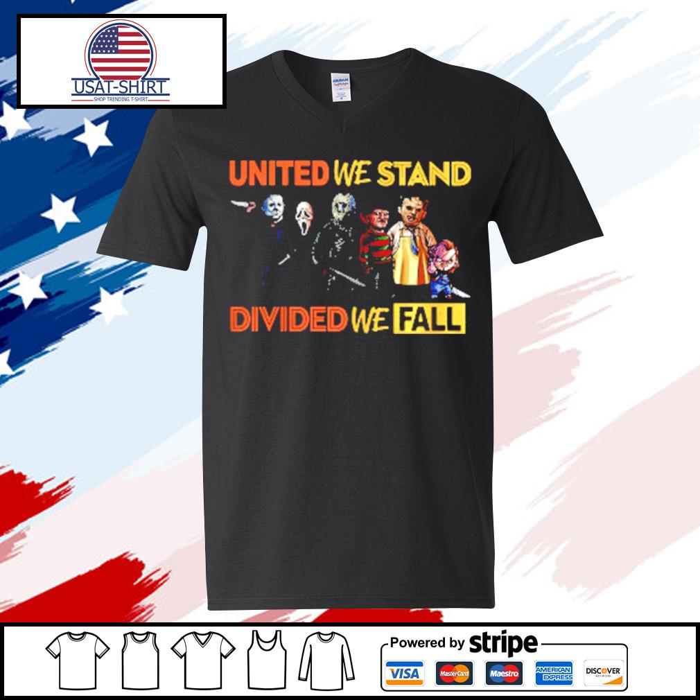 Perfect United We Stand Divided We Fall s v-neck t-shirt