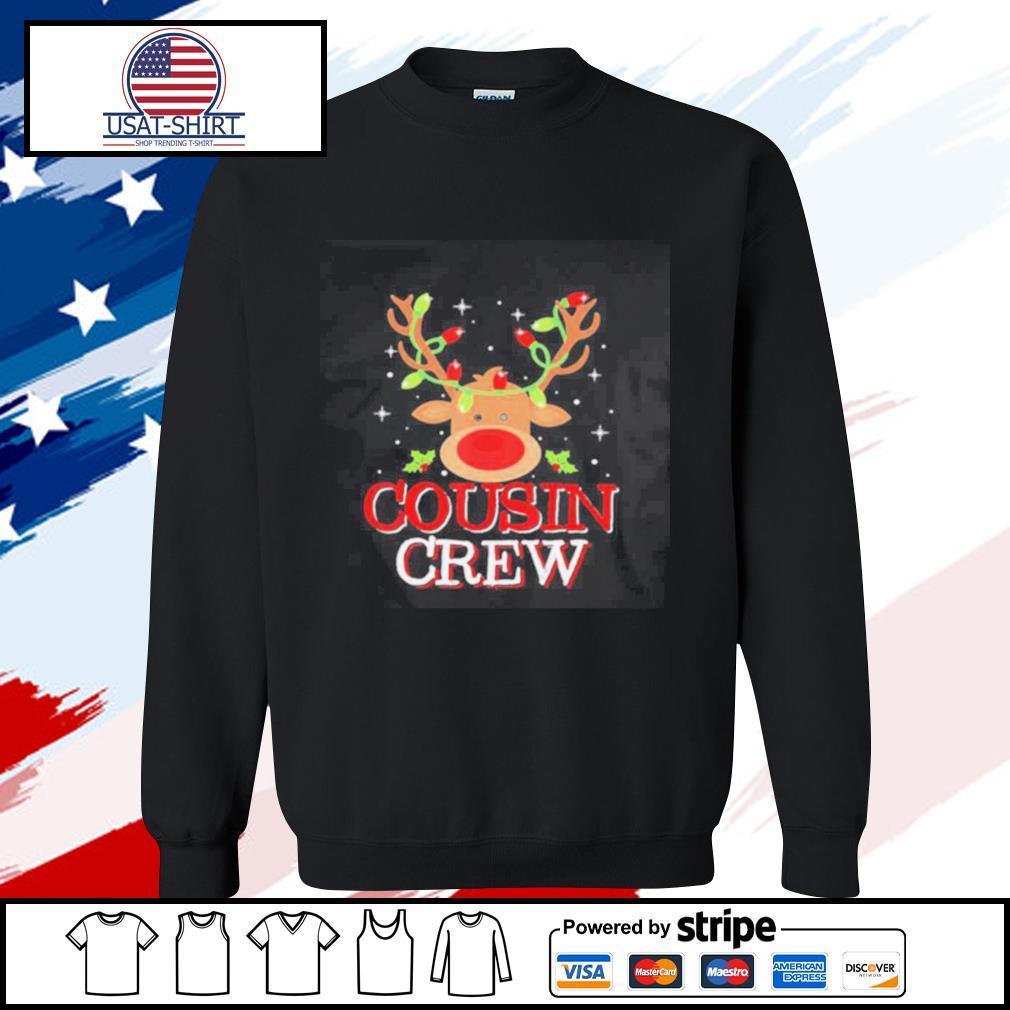 Reindeer Light Cousin Crew Christmas s sweater