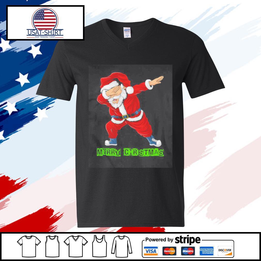 Santa Christmas Boys Kids s v-neck-t-shirt