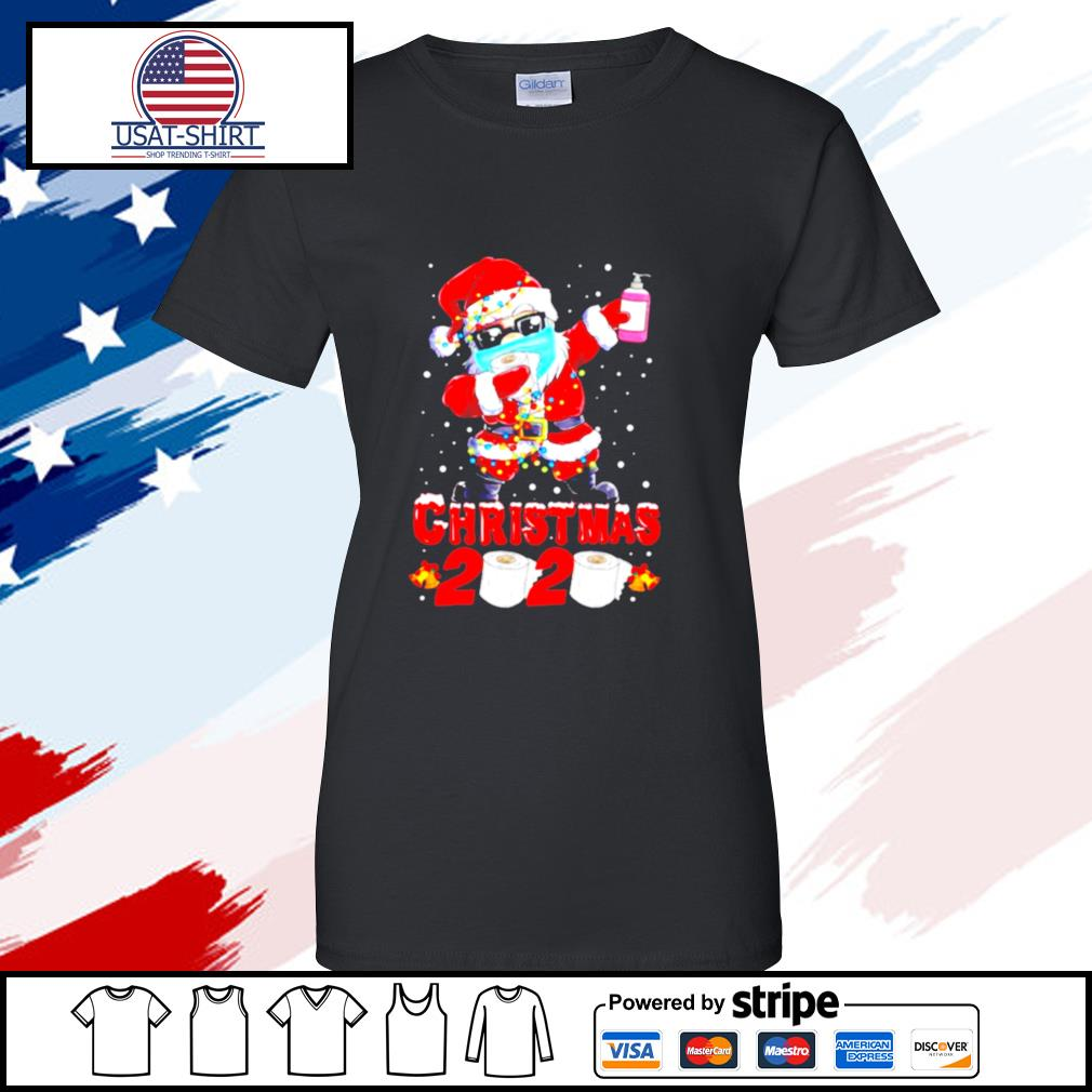 Santa Claus Dabbing Toilet Paper Merry Christmas 2020 s ladies tee