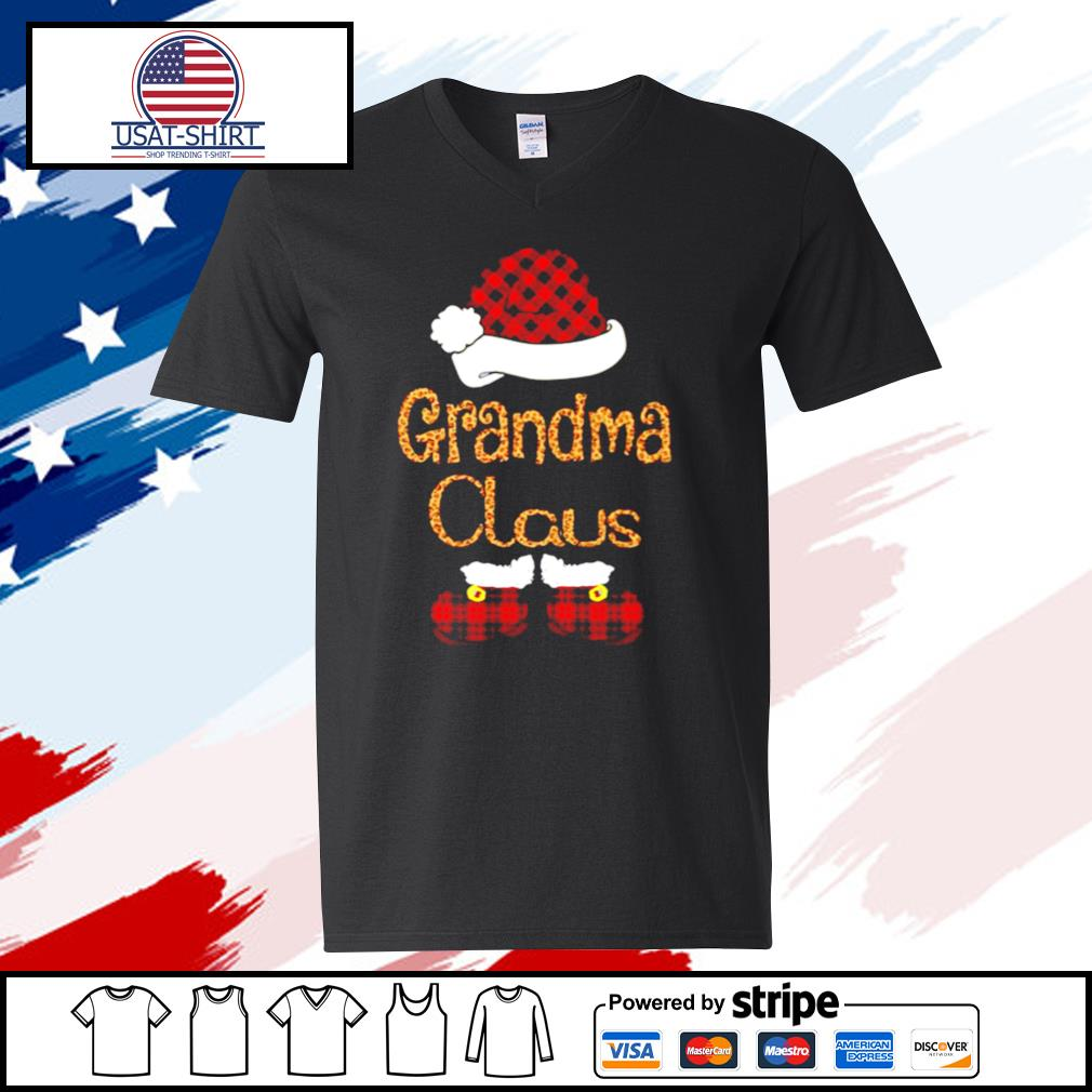 Santa Claus Grandma Claus s v-neck t-shirt