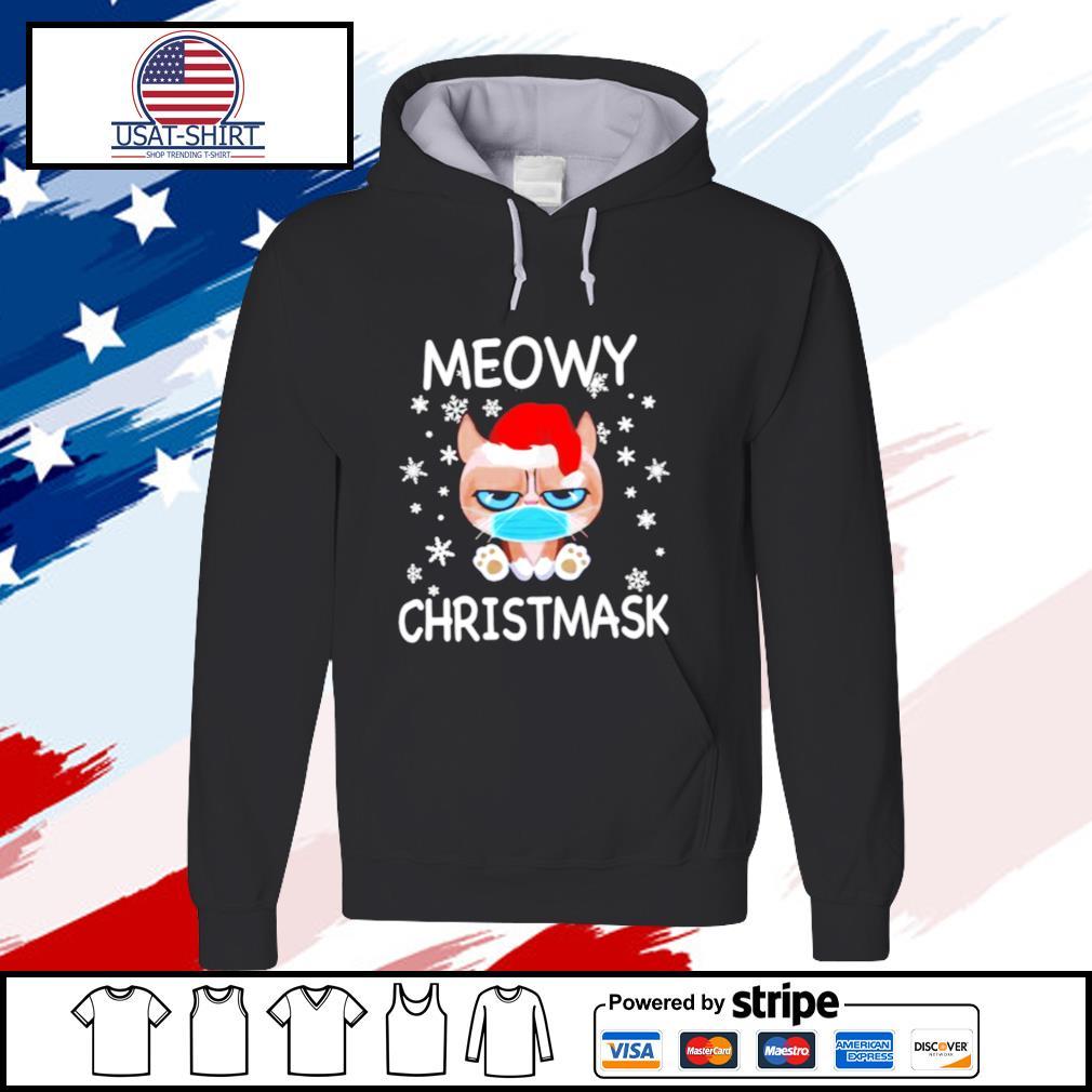 Santa Grumpy Cat Face Mask Meowy christmas s hoodie