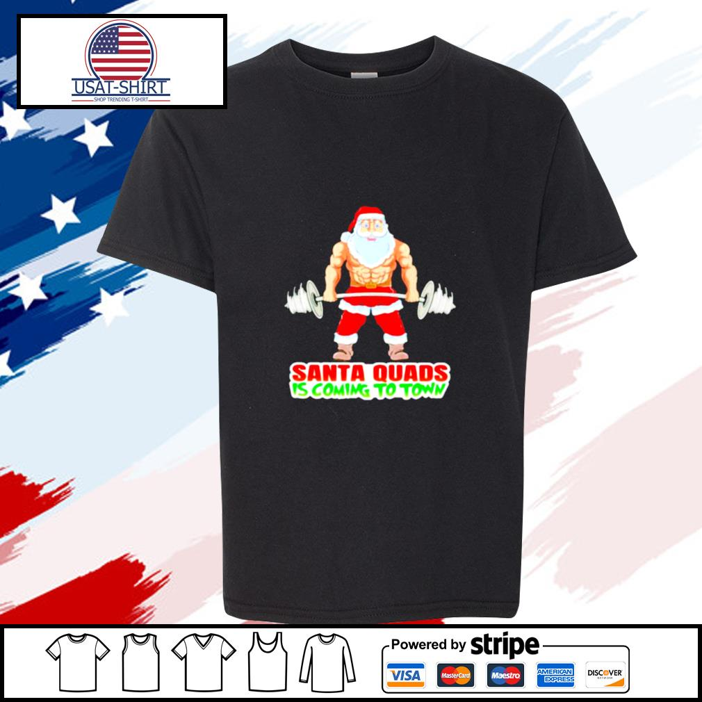 Santa Quads Is Comin To Town Xmas s youth-tee