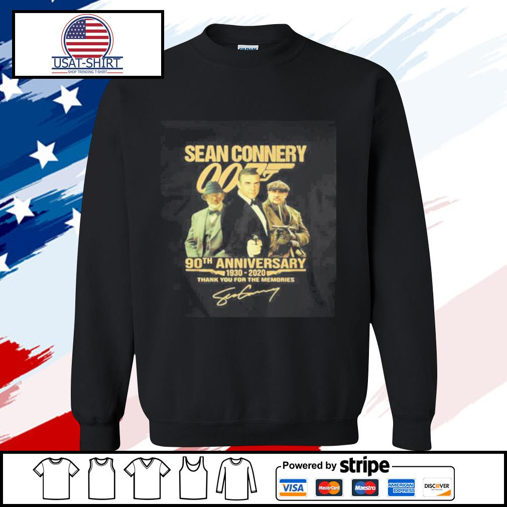 Sean Connery 007 90th Anniversary 1930 2020 Thank You For The Memories Signature s sweater
