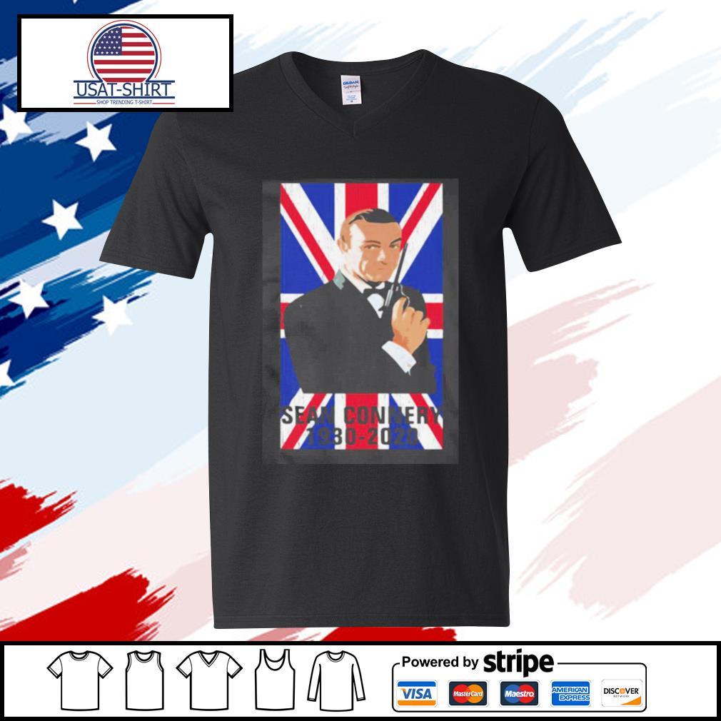 Sean Connery 1930 2020 Flag s v-neck-t-shirt