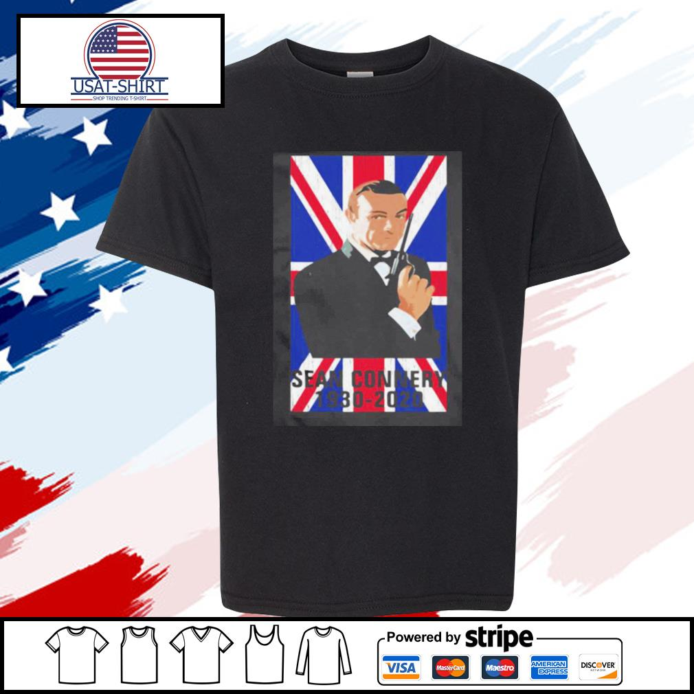 Sean Connery 1930 2020 Flag s youth-tee