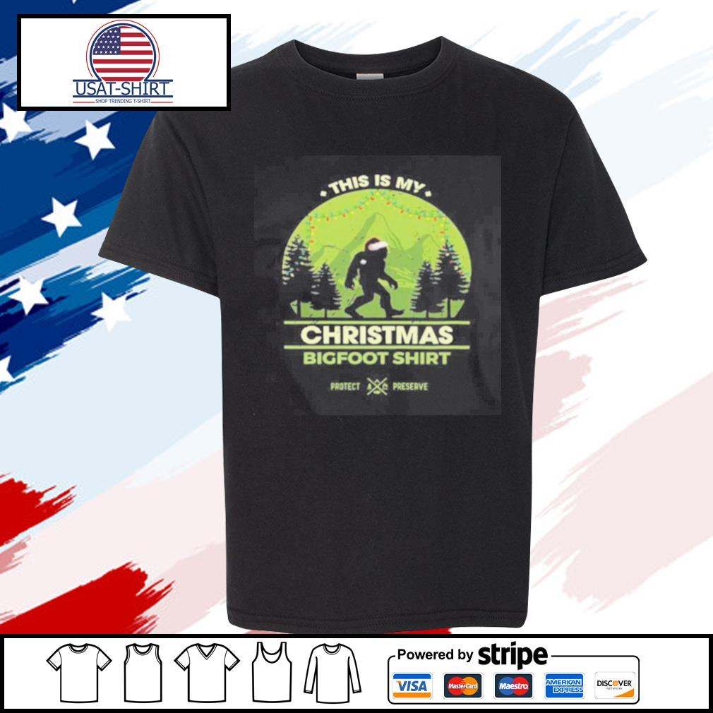 This Is My Christmas Bigfoot s youth-tee