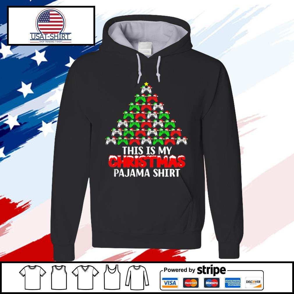 This Is My Christmas Pajama Santa Hat Joystick Tree Gamer s hoodie